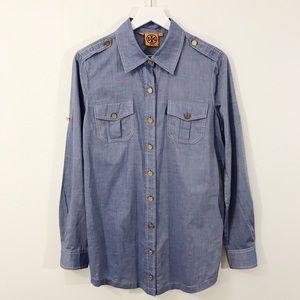 Tory Burch Brigitte Chambray Shirt Dress Tunic